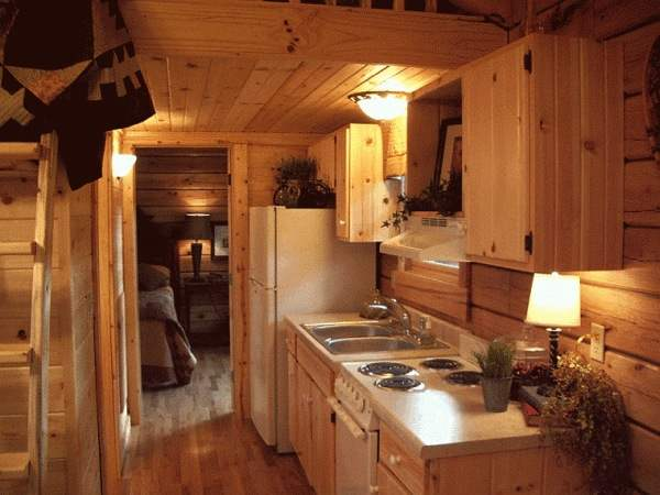 tiny house with full kitchen and bathroom