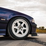 Purple Bmw E36 M3 Momo Heritage 6 Wheels In Silver Momo