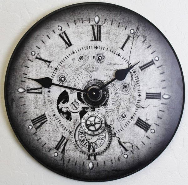 Large Steampunk Wall Clock