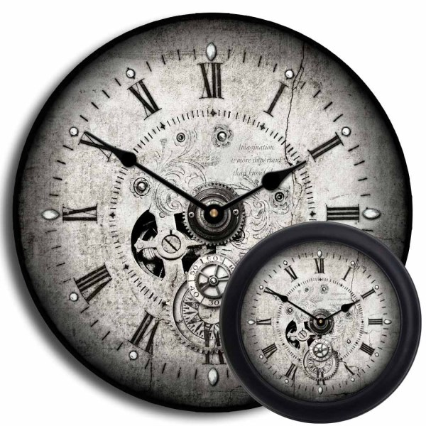 Steampunk Wall Clocks Large Clock