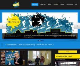Site pe WordPress pentru o competiție sportivă