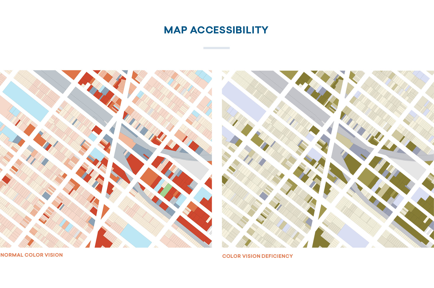 hight resolution of color in maps accessibility
