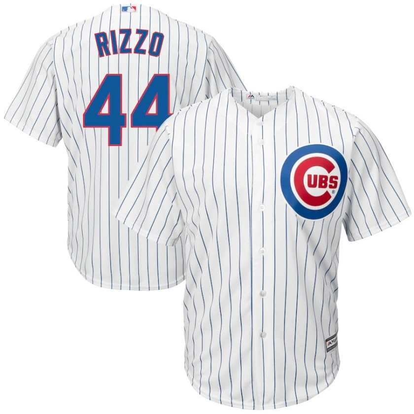 big and tall anthony rizzo jerseys - Cubs white pinstrip 4x-6x xlt-5xlt