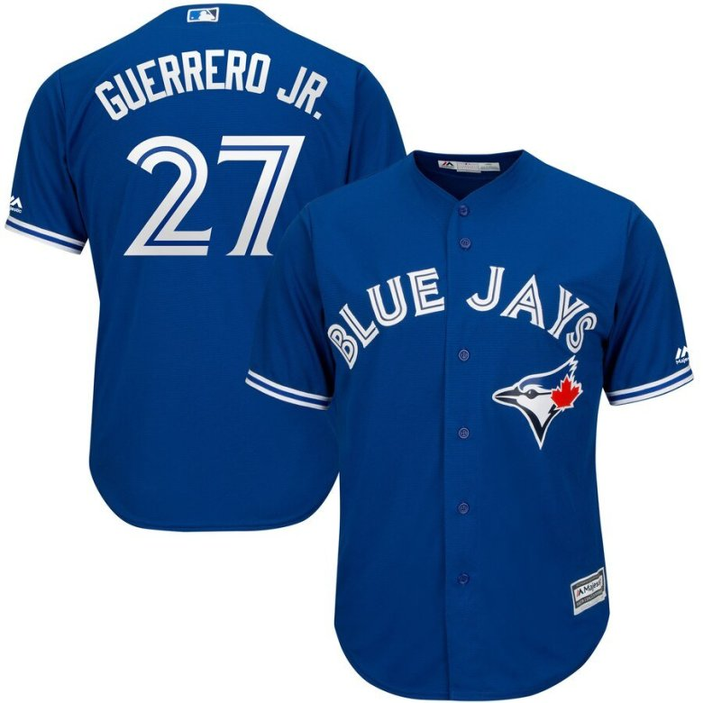 vladimir guerrero jr jersey of the toronto blue jays in blue and white
