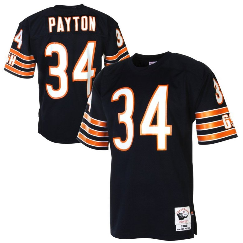 throwback jerseys of walter payton by mitchell and ness in S-2X 3XL 4XL 5XL
