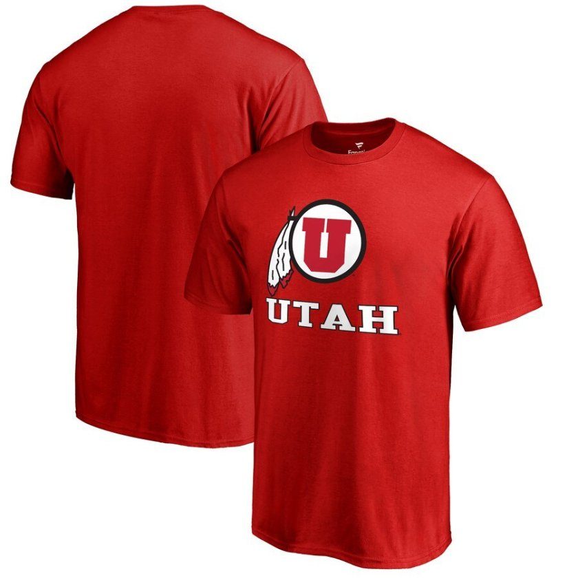 Utah Utes Tee Shirt - Red in Big and Tall Sizes 2X 3X 4X 5X 6X XLT-5XLT