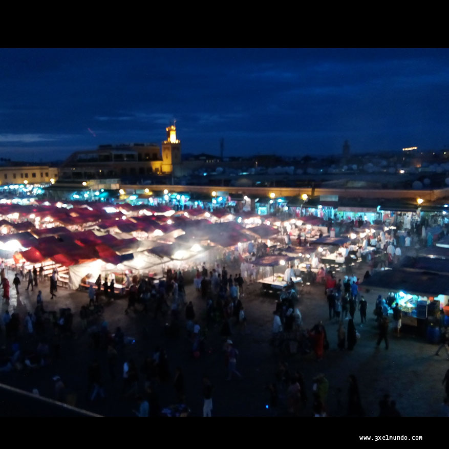 plaza de Jemaa el Fna en Marrakech