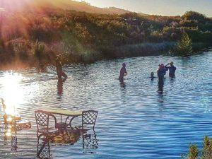 Open water swim at private wine farm
