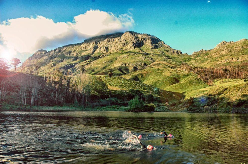 Open water swimming Stellenbosch training