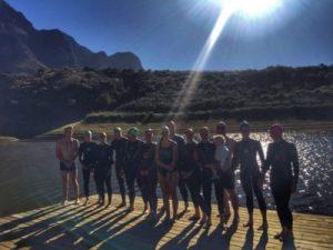 Open water swimming boschendal