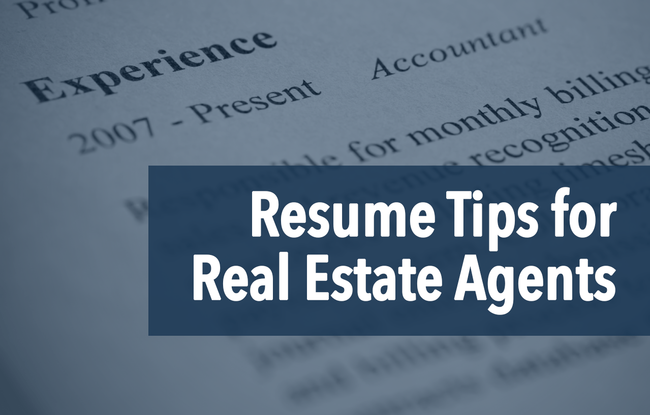 The Real Estate Agent Resume Examples & Tips