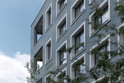 Detailaufnahme Hunziker Areal Zürich Fassade