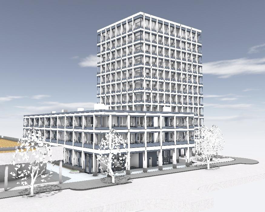 BIM-Modell eines Hochhauses