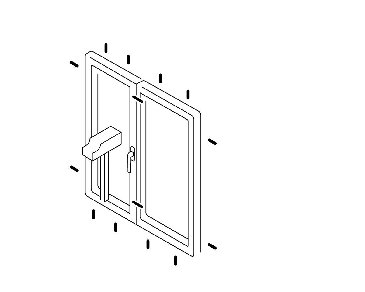 Illustration Einbruchschutzfenster mit Widerstandsklasse RC2