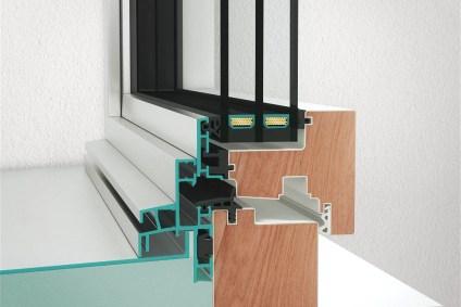 Querschnitt des Neubaufenster NF1 Contur