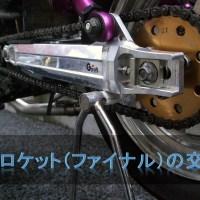 モンキー・ゴリラのスプロケット(ファイナル)変更の方法