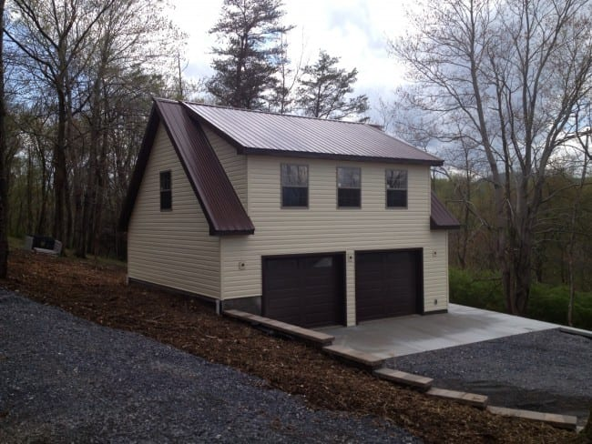 Custom Two Story Garage  4Outdoor