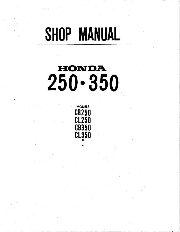 Honda CB350 Workshop manual