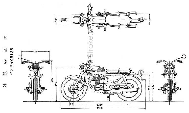 1980 Honda Cb 125 Frame Diagram. Honda. Auto Parts Catalog