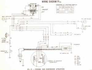 Honda PF50 Amigo Wiring Schematic  4Stroke  All the