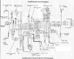 Honda C110D Wiring Schematic  4Stroke  All the data for your Honda Motorcycle or Moped