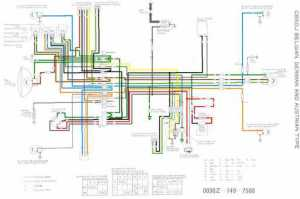 Honda CB50J for BE, DE and AT Wiring Schematic  4Stroke