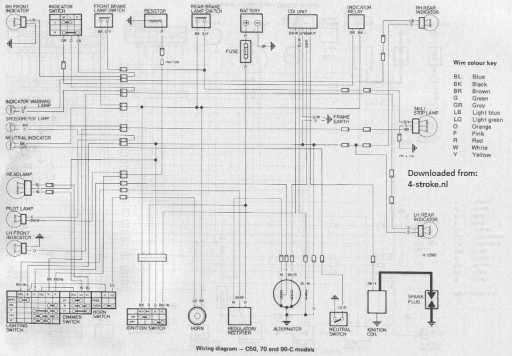 honda cdi wiring diagram 50 wiring schematic diagram - 1983 honda shadow  750 wiring diagram