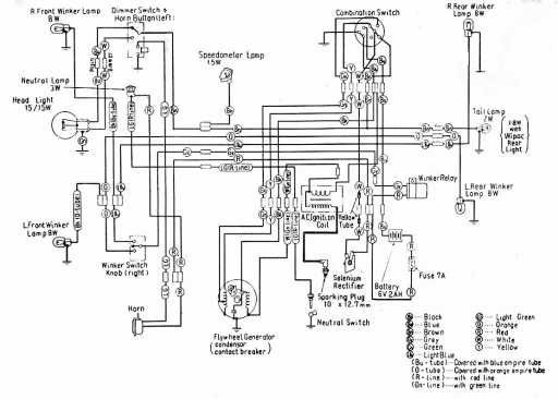 1980 ct70 wiring diagram simple light switch honda c100 schematic - 4-stroke.net all the data for your motorcycle or moped