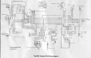 Honda C50 Wiring Schematic  4Stroke  All the data