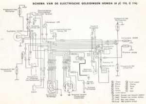Honda C110 (Dutch) Wiring Schematic  4Stroke  All