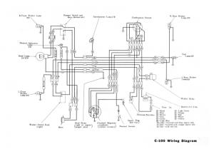 Honda C100 Wiring Schematic  4Stroke  All the data