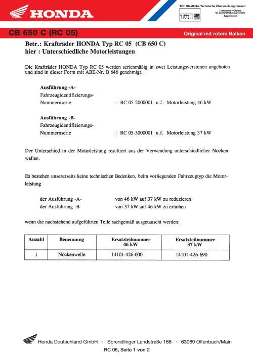 small resolution of conformity declaration honda cb650c rc05 germany 1978