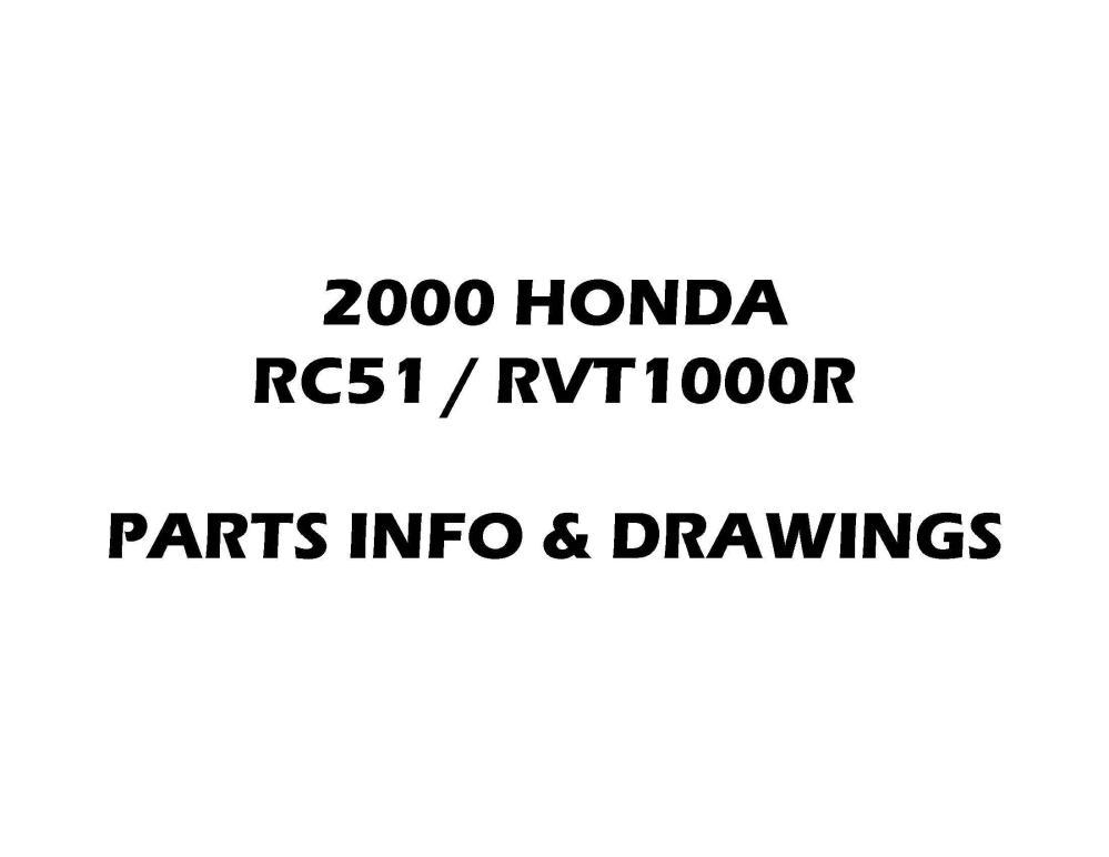 medium resolution of parts list for honda rc51 rvt1000r 2000