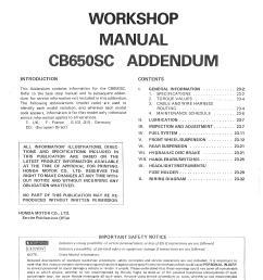 workshop manual for honda cb650sc addendum  [ 3302 x 4670 Pixel ]