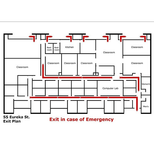 Red Evacuation Map, Rs 3000 /piece(s), Subham Safety House