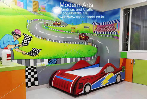 Kids Bedroom Cartoon Wall Painting Ideas At Rs 120 Square Feet Kids Room Paintings Id 13752344748