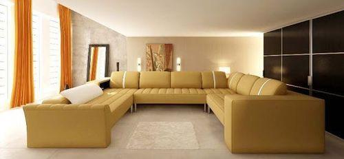 c shaped sofa designs flexsteel sleeper mattress shape luxurious set at rs 36500 piece designer