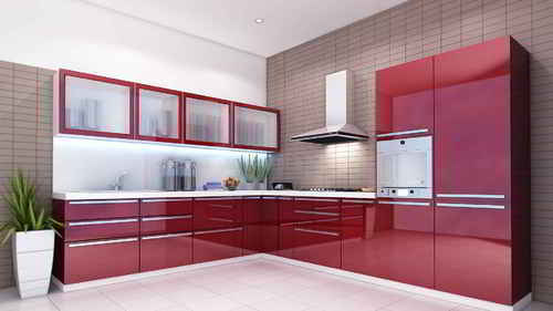 modular kitchens commercial kitchen lighting residential warranty 1 5 years rs 100000 unit