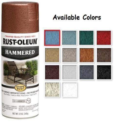 Rust Oleum Stops Hammered Metal Finish Spray Paint