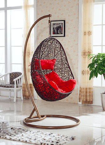 hanging chair qatar chairs that make into a single bed outdoor wicker swing manufacturer from hyderabad