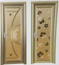 Aluminum Glass Bathroom Door
