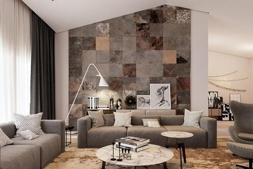 living room tiles wall table behind sofa tile at rs 45 square feet s slate id