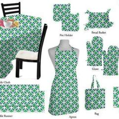 Kitchen Linens Island With Folding Leaf Multicolor Geometrical Printed Linen Set Size Multi