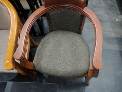 round wooden chair all purpose salon with headrest in kochi kerala lakdi ki kursi price