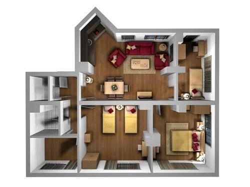 Layout Planning Service Furniture Interior Design Layout 3D