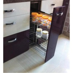 Pull Out Kitchen Cabinet Reupholster Chair Single Pullout Trolley S K Industries Vasai