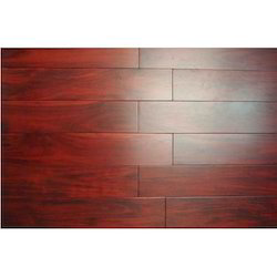 cherry red wooden flooring