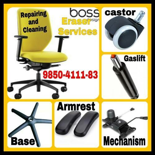 revolving chair spare parts swing indoor many brands office repairing and cleaning service rs 450
