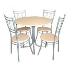 Stainless Steel Kitchen Table Sheet Vinyl Flooring Dining Set