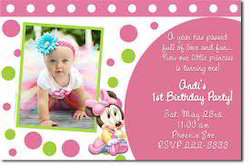 Baby Birthday Invitation Card